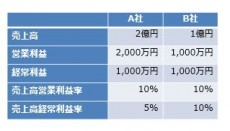 売上高経常利益率の例