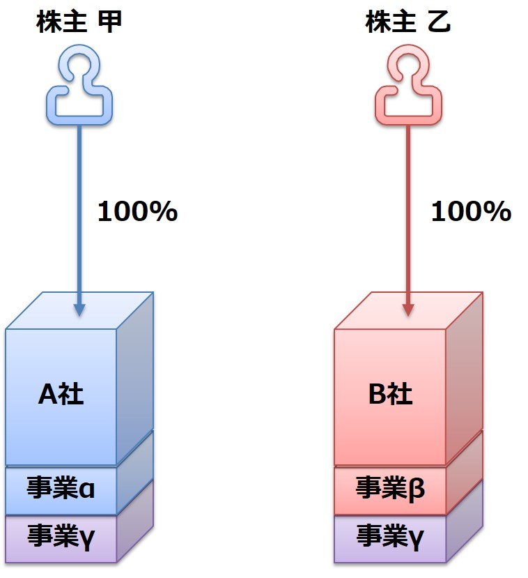 ④分割型共同新設分割 前